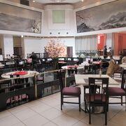 プリンスパークタワー地下の中華レストラン。地下の大空間でゆったり。