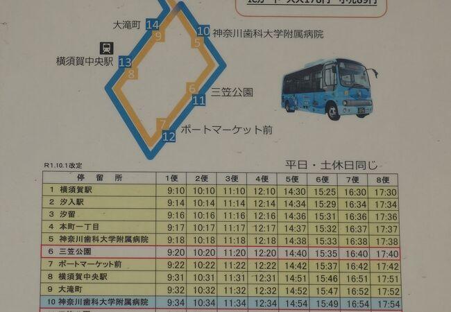 横須賀中央 三笠循環バス