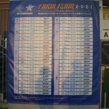 イースタンリーグ横浜DeNAファーム公式戦スケジュール