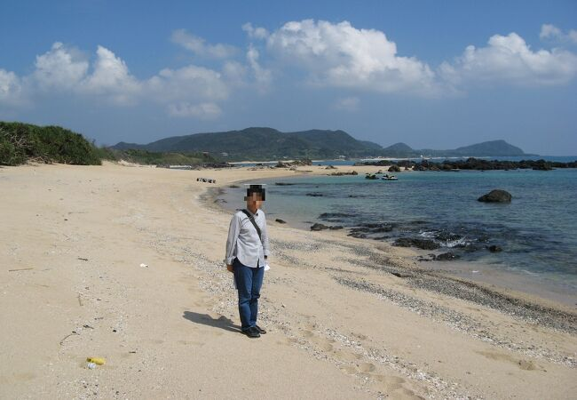 小石混じりの砂浜は綺麗