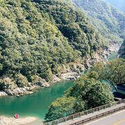 """観光列車""""四国まんなか千年ものがたり""""で通過する絶景の地。"""