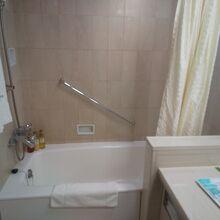 バスルームは古いタイプ。清潔感は問題なし