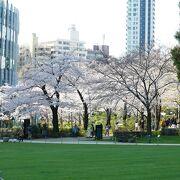 ミッドタウン裏のグリーンパークはなかなかいい公園