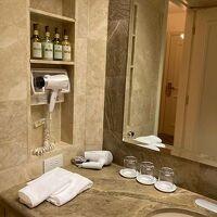 洗面台も広くて使いやすい。