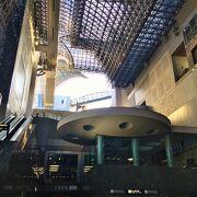 駅ビルの展望通路