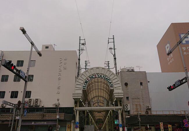 岐阜市中心部の商店街