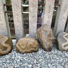 蛇の模様がある「蛇紋石」