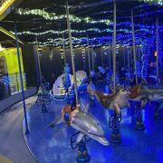音と光も楽しめる水族館