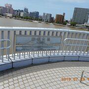 信濃川の一番下流の橋