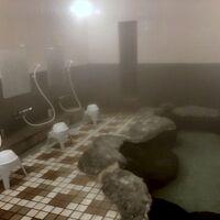 クラブハウスにある温泉に入れます