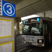 空港からノボテルホテルまで125番バスを利用しました