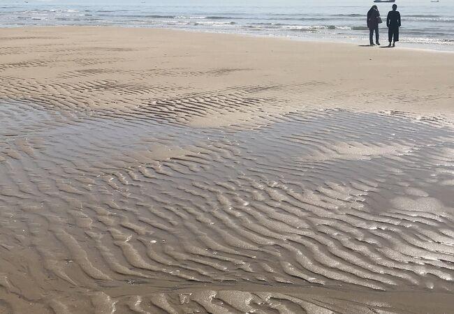 干潮の砂浜が美しい