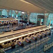 国際線が発着しているターミナルです。