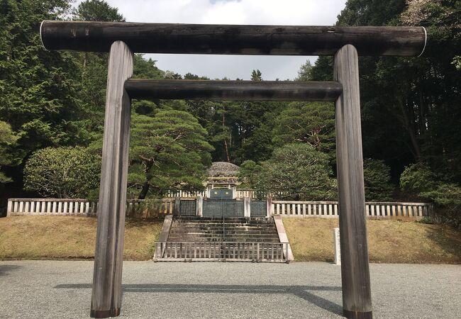 天皇家の陵墓。静かな環境、武蔵野の自然観察に最適です。