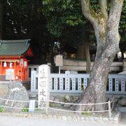 生田の森の中にある「折れ鳥居と礎石 」