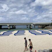 那覇市街地にあるビーチ