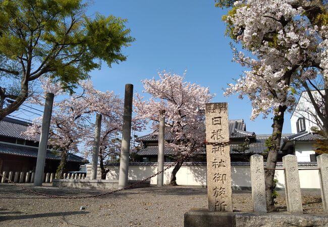 日根神社のまくら祭で御渡する日根神社御旅所