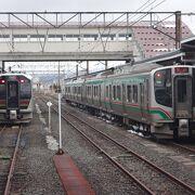 福島県と新潟県を結ぶ鉄道路線