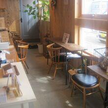 カフェスペースの様子
