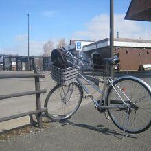 お借りした自転車(ママチャリ・3段変速付き)の様子