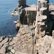 断崖絶壁の名所としての東尋坊を訪れる