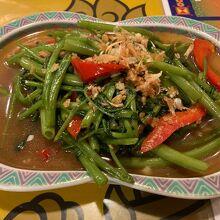空芯菜炒めはピリ辛でおいしい