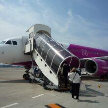 関空発 A320型機