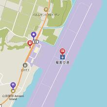 奄美空港地図