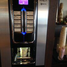 ロビーのコーヒー機