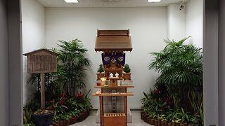 空港の神社を見つけました