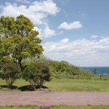 海沿いの高台部は、ピクニックにもピッタリな落ち着いた場所。