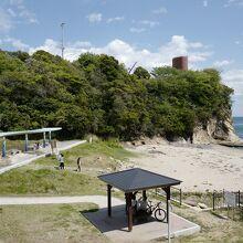 こんな砂浜ですら、園内にあるんです。