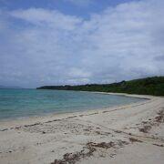 景色がきれいなビーチ