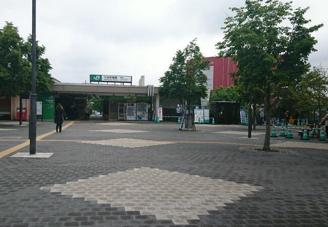 駅前広場が広くて綺麗