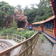 パーク内の風景や、恐竜世界を楽しめる列車