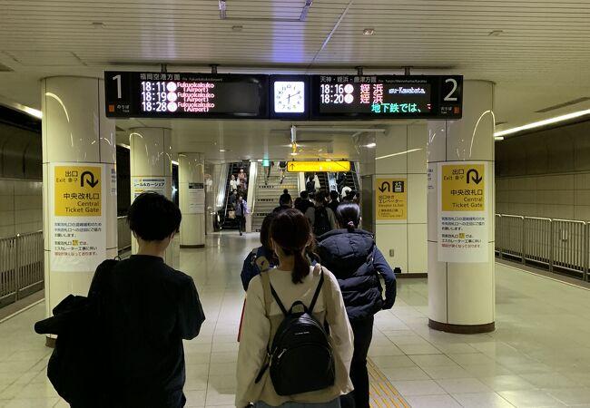 地下鉄駅で迷いました。