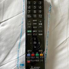 感染防止対策が施されたテレビのリモコン