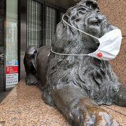 ライオンさんもずーっとマスクしています!
