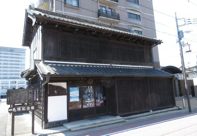 かつての酒造の店舗