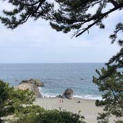 坂本龍馬の銅像で有名な桂浜です