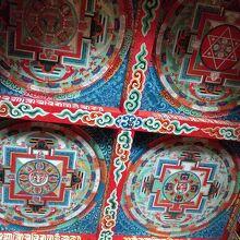 寺院の天井画