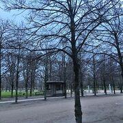 冬の朝は静かにお散歩 チュイルリー公園