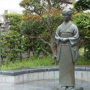 素敵な女性の銅像でした
