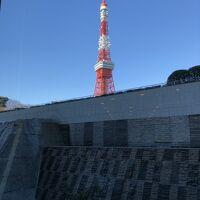 ホテル内からの東京タワーの眺めです。