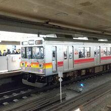 田園調布駅での東急大井町線