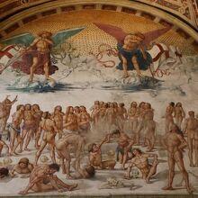 『肉体の復活(死者の蘇り)』のフレスコ画