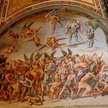 『地獄へ堕ちる人々』のフレスコ画