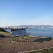津軽海峡の見晴らしがよい