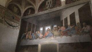 レオナルド・ダビンチの奇跡的に残った「最後の晩餐」の壁画が見られる