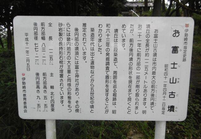頂上に神社がある古墳